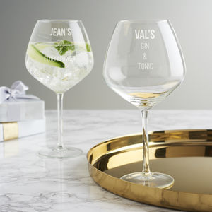 Personalised Gin Goblet - winter sale