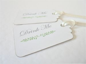 Pack Of 10 Drink Me Tags