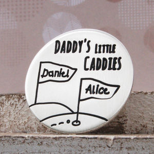 Little Caddies Personalised Silver Golf Ball Marker - home accessories