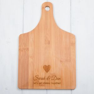 Heart Paddle Chopping Board Or Cheese Board - gifts for him