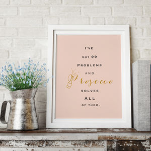 Prosecco Lovers Typography Print - posters & prints