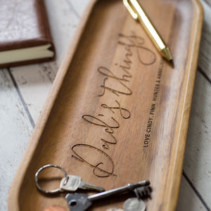 Personalised Wooden Concierge - cufflink boxes & coin trays