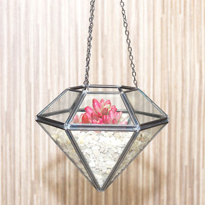 Hanging Diamond Vase Terrarium