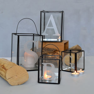 Initial Candle Holder - christmas lighting