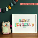 Personalised Children's Name Print Gift Set