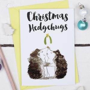 Christmas Hedgehugs Card