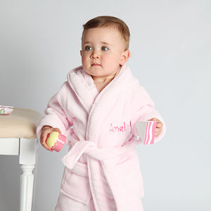Personalised Fleece Baby Robe For Girls - gifts for babies
