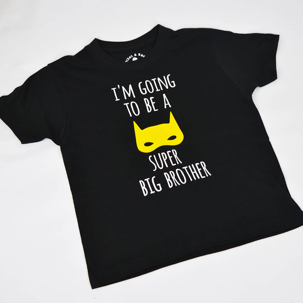 3bb8fc69 i'm going to be a super big brother' t shirt by rocket & rose ...