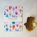 Hamsa Healing A5 Notebook With Lined Pages