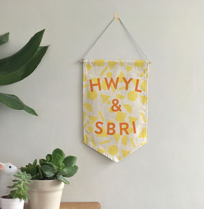 'Hwyl A Sbri' Welsh Banner - decorative accessories