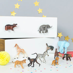 Circus Animals Cupboard And Drawer Knobs ~ Set Of 10