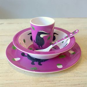 Badger Dinner Set - dining room