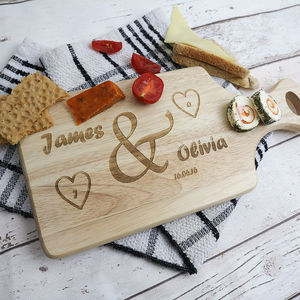 Personalised Initial Heart Paddle Board - kitchen