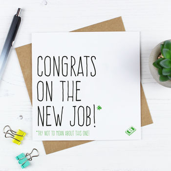 'Congrats On The New Job' Card