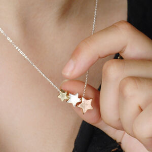Personalised Triple Star Necklace