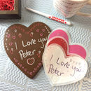 Write Your Own Message Chocolate Heart