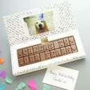 personalised birthday chocolate