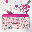 Personalised Pencil Case With Doodle Graffitti Design