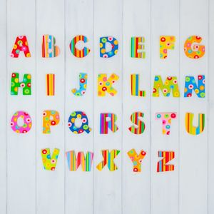Striped And Spotty Decorative Name Letters - decorative letters