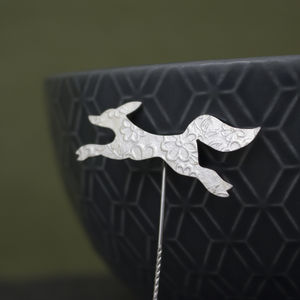Sterling Silver Watercolour Baby Fox Pin