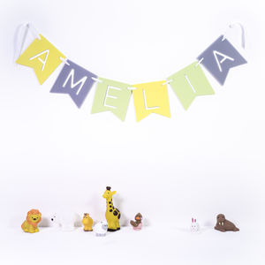 Personalised Children's Name Banner - more
