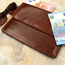 Italian Leather Travel Wallet. ' The Torrino'