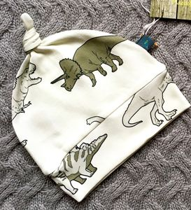 Dinosaur Baby Hat, Organic Knotted Hat - hats, scarves & gloves