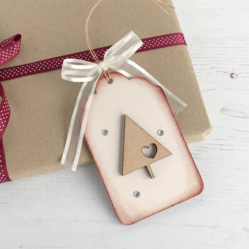 Christmas Tree Wooden Decoration / Gift Tag