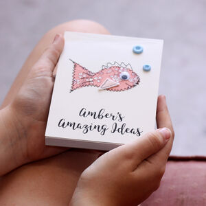Personalised Fish Embroidered Notepad
