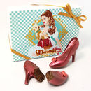 Dorothy's Ruby Chocolate Shoes Filled With Nutella