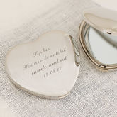 Personalised Heart Compact Mirror - health & beauty
