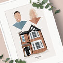 House And Family Portrait Print