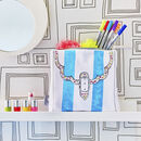 Colour In And Personalise Accessory Bag Kit + 10 Pens