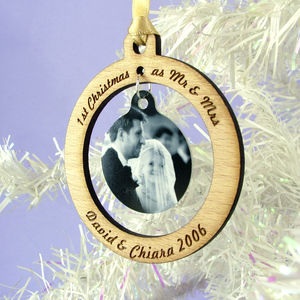 Newlyweds Personalised Christmas Bauble