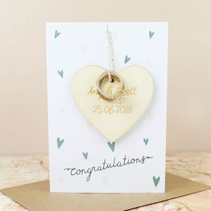 'Congratulations' Wedding Decoration Greetings Card