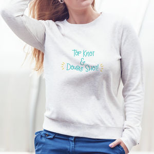 Top Knot And Double Shot Jumper - jumpers & cardigans