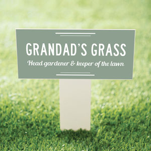 Garden Stake For Grandad's Grass - art & decorations
