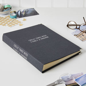 Personalised Photo Album In Linen