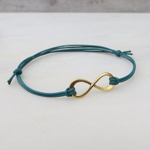 Matte Yellow Gold Infinity Bracelet - winter sale