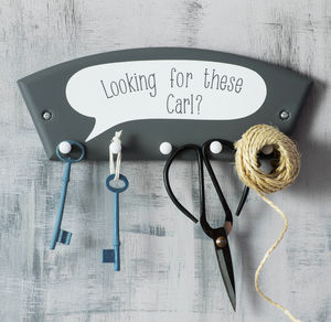 Key Hook With Personalised Speech Bubble - storage & organisers