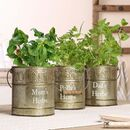 Three Personalised Country Kitchen Herb Pots