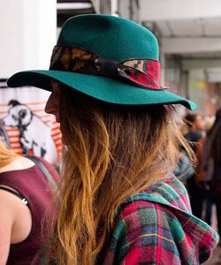Green Tibetan Wrap Fedora - womens