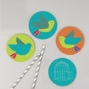 'Flying Birds' Set Of Four Coasters