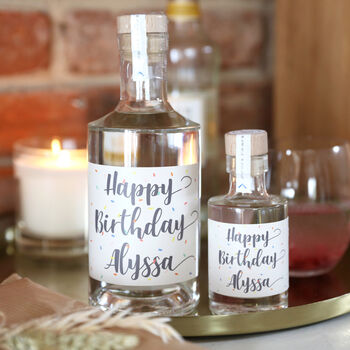 Personalised 'Happy Birthday' Gin, Whisky Or Vodka