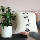 Knitted Scandi Face Cushion