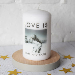 Personalised Photo Message Candle - valentine's gifts for him