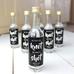 Set Of 10 Personalised Wedding Favour Shot Bottle - wedding favours