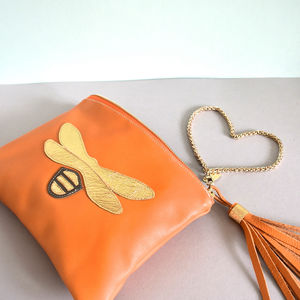 Insect Leather Clutch - clutch bags