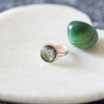 Green Galaxy Ring