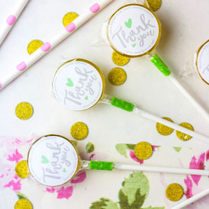 Personalised Thank You Lollipops/Wedding Favours - lollipops